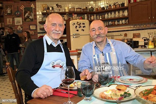 Werner Hansch Horst Lichter ZDFKochShow 'LaferLichterLecker' Hamburg Deutschland Europa Studio Kochshow Küche Koch Promi BB CD PNr 030/2014