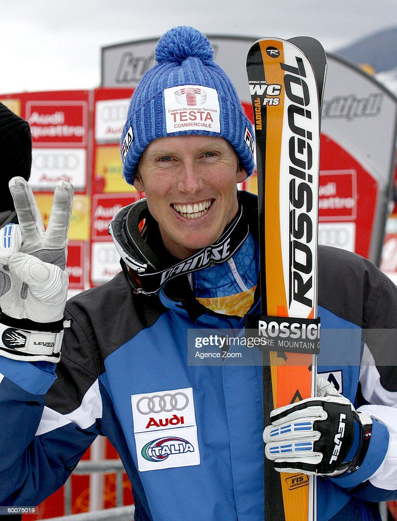 . Werner Heel of Italy takes 3rd place during the Alpine FIS Ski World Cup. Men's Downhill on March 01, 2008 in Kvitfjell, Norway.
