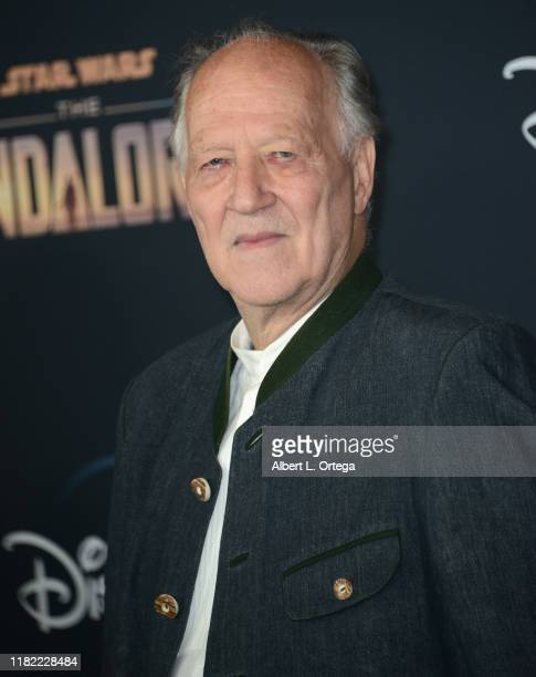 Werner Herzog arrives for the premiere of Disney's The Mandalorian held at El Capitan Theatre on November 13 2019 in Los Angeles California