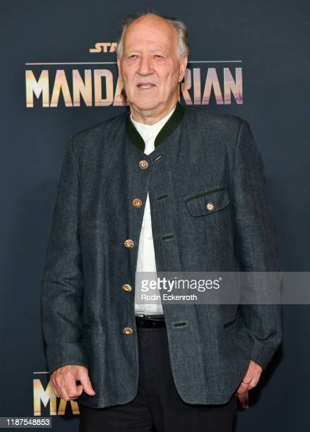 Werner Herzog attends the premiere of Disney's The Mandalorian at El Capitan Theatre on November 13 2019 in Los Angeles California