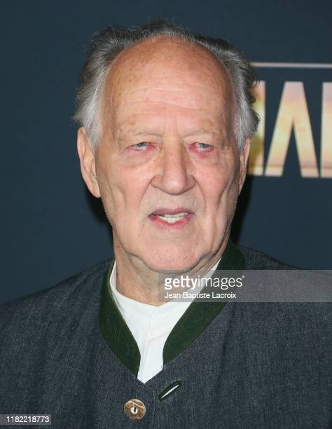 Werner Herzog attends the premiere of Disney's The Mandalorian at the El Capitan Theatre on November 13 2019 in Los Angeles California