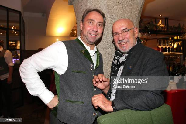 Werner Hochreiter and Otto Retzer during the Christmas Charity Dinner hosted by StefanMross AnnaCarinaWoitschack and Connections PR for the benefit...