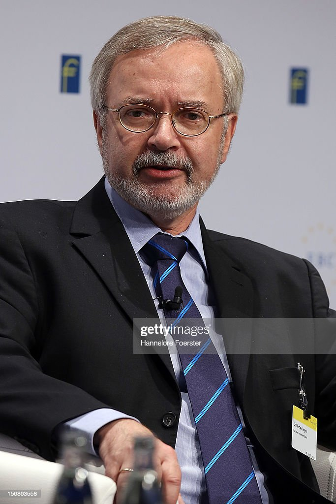 Werner Hoyer, president European Investment Bank, attends the European Banking Congress on November 23, 2012 in Frankfurt, Germany. Bankers from across Europe are meeting as Europe continues to struggle with weak economies in the Eurozone and governments remain locked in disagreement over the European Union 2013 budget.