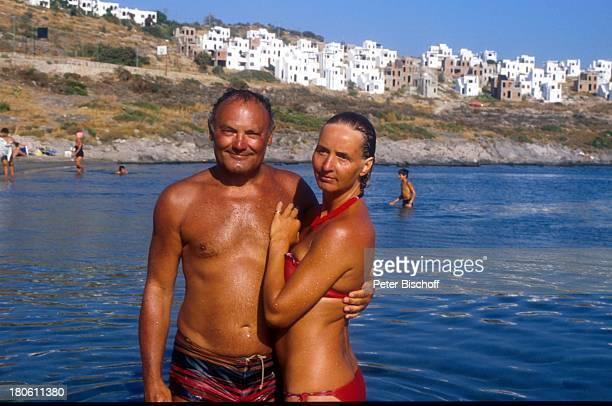 Werner Kreindl Ehefrau Diana Körner Bodrum/Türkei Urlaub Mittelmeer baden Bad Bikini Badehose umarmen Frau