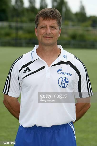 Werner Leuthard poses during the Bundesliga team presentation of FC Schalke 04 at the Veltins Arena on July 14, 2010 in Gelsenkirchen, Germany.