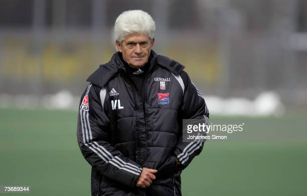Werner Lorant new head coach of second division Bundesliga soccer club SpVgg Unterhaching arrives for the first training session at Unterhaching...