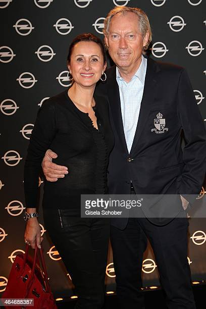MUNICH GERMANY JANUARY Werner Mang and wife Sybille Mang attend the presentation and vernissage of the calender THE ADAM BY BRYAN ADAMS for Opel at...