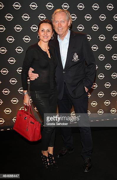 MUNICH GERMANY JANUARY Werner Mang and wife Sybille Mang attend the presentation and vernissage of the calender 'THE ADAM BY BRYAN ADAMS' for Opel at...