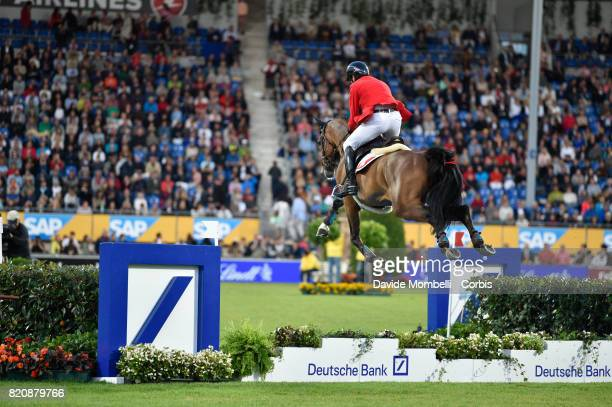 Werner Muff of Switzerland riding DAIMLER during CHIO MercedesBenz Nations Cup on July 20 2017 in Aachen Germany