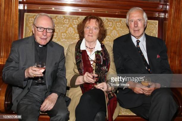 Werner Thissen Birgit Breuel and Ernst Breuel during the former mayor of Hamburg Klaus von Dohnanyi celebrates his 90th birthday on September 3 2018...