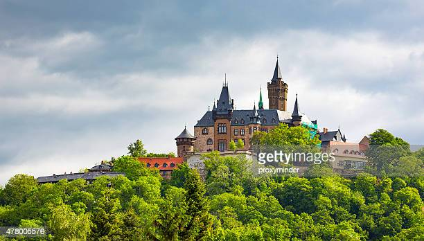wernigerode castle, harz, germany - saxony anhalt stock pictures, royalty-free photos & images