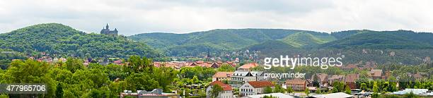 Wernigerode panorama with Castle on top of the hill