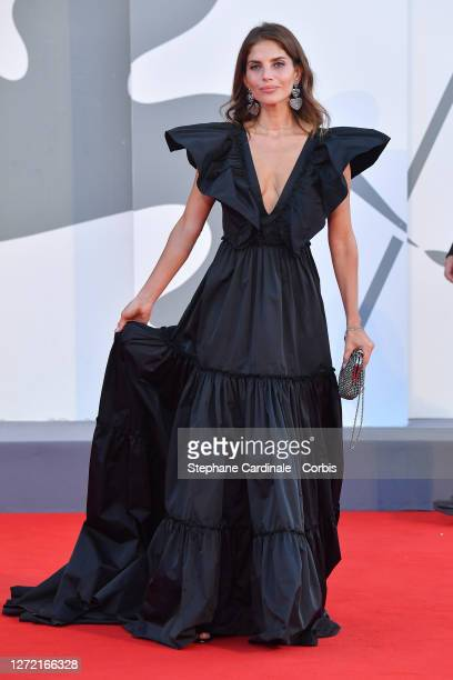 Weronica Rosati walks the red carpet ahead of closing ceremony at the 77th Venice Film Festival on September 12, 2020 in Venice, Italy.