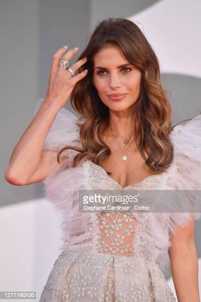 "Weronika Rosati walks the red carpet ahead of the movie ""Sniegu Juz Nigdy Nie Bedzie"" at the 77th Venice Film Festival on September 07, 2020 in..."