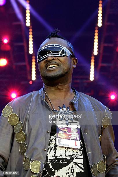 Werrason performs on stage during the 'Nuit Africaine' concert at Stade de France on June 11, 2011 in Paris, France.