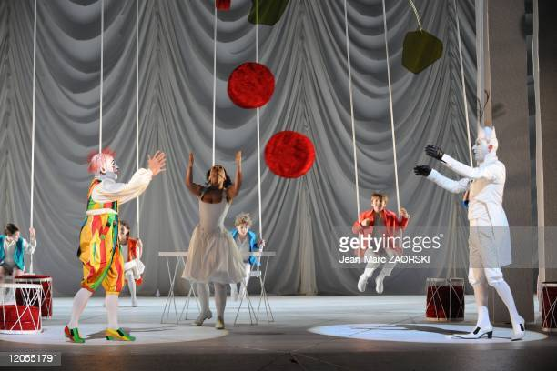 Werther by Jules Massenet in the Opera of Lyon France on January 20 2011 A general view with Nabil Suliman on the right JeanPaul Fouchecourt on the...