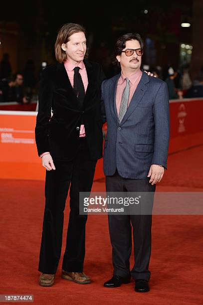 Wes Anderson And Roman Coppola On The Red Carpet during The 8th Rome Film Festival on November 13 2013 in Rome Italy