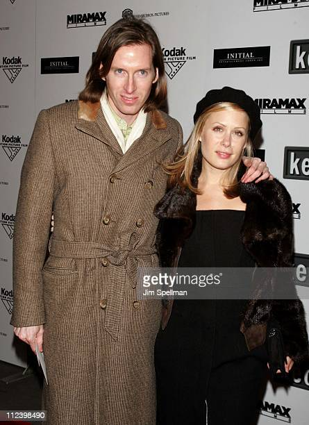 Wes Anderson and Tara Subkoff during 'The Aviator' New York City Premiere Outside Arrivals at Ziegfeld Theater in New York City New York United States