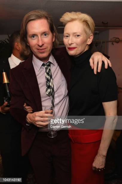 Wes Anderson and Tilda Swinton attend the AnOther Magazine x Prada private screening and party for Luca Guadagnino's Suspiria and AnOther A/W18...