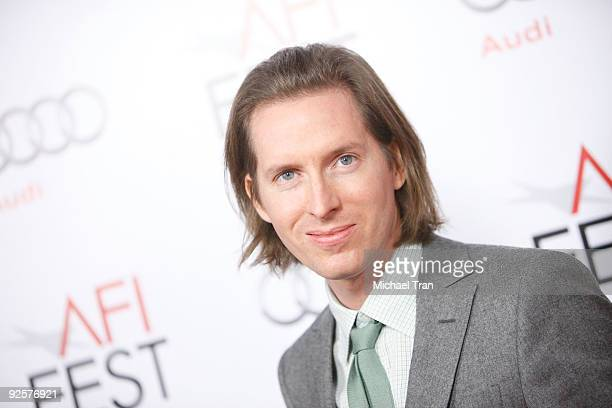 Wes Anderson arrives to the 2009 AFI Festival opening night featuring Fantastic Mr Fox held at Grauman's Chinese Theatre on October 30 2009 in...