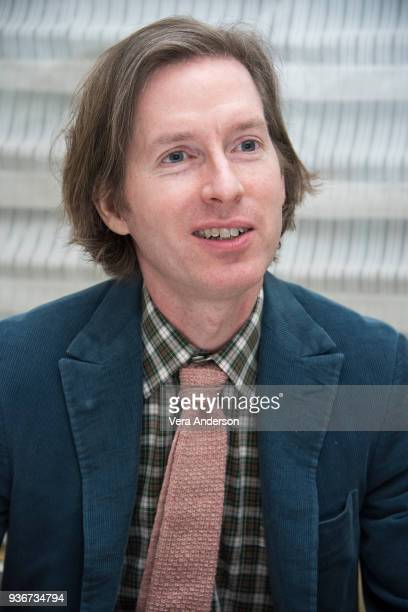 Wes Anderson at the Isle of Dogs Press Conference at the Peninsula Hotel on March 21 2018 in New York City