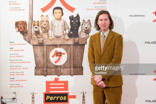 Wes Anderson attends the 'Isle of Dogs' movie at Villamagna Hotel in Madrid on Feb 27 2018
