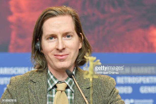 Wes Anderson attends the 'Isle of Dogs' press conference during the 68th Berlinale International Film Festival Berlin at Grand Hyatt Hotel on...