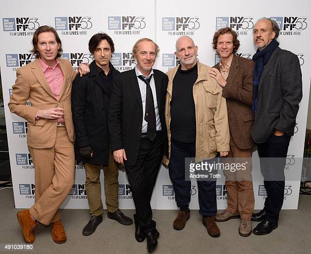 Wes Anderson Noah Baumbach Arnaud Desplechin Brian De Palma Jake Paltrow and Kent Jones attend the 'My Golden Days' screening during the 53rd New...