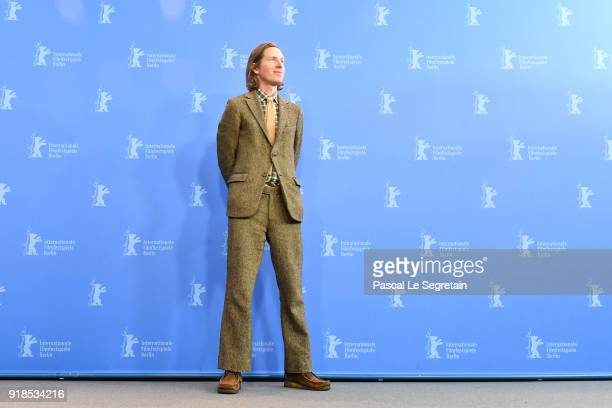 Wes Anderson poses at the 'Isle of Dogs' photo call during the 68th Berlinale International Film Festival Berlin at Grand Hyatt Hotel on February 15...