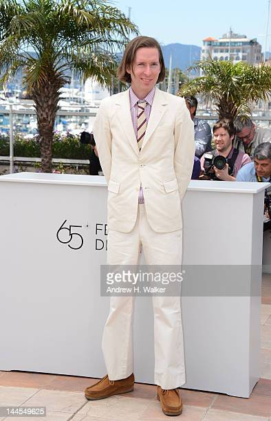 Wes Anderson poses at the Moonrise Kingdom photocall during the 65th Annual Cannes Film Festival at Palais des Festivals on May 16 2012 in Cannes...