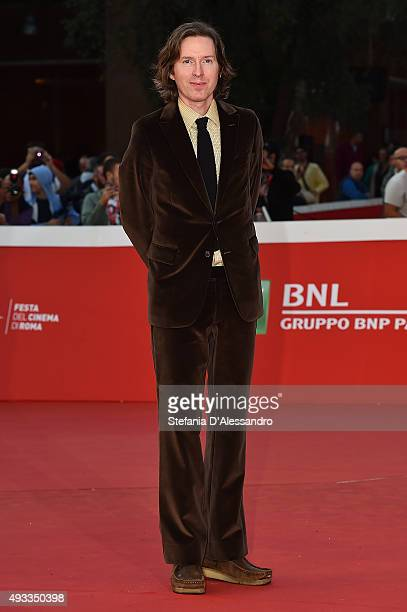 Wes Anderson walks the red carpet during the 10th Rome Film Fest on October 19 2015 in Rome Italy