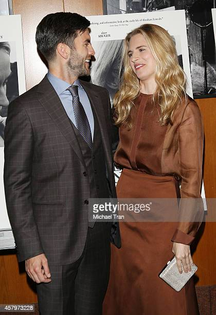 Wes Bentley and Brit Marling arrive at the Los Angeles Premiere of 'The Better Angels' held at DGA Theater on October 27 2014 in Los Angeles...