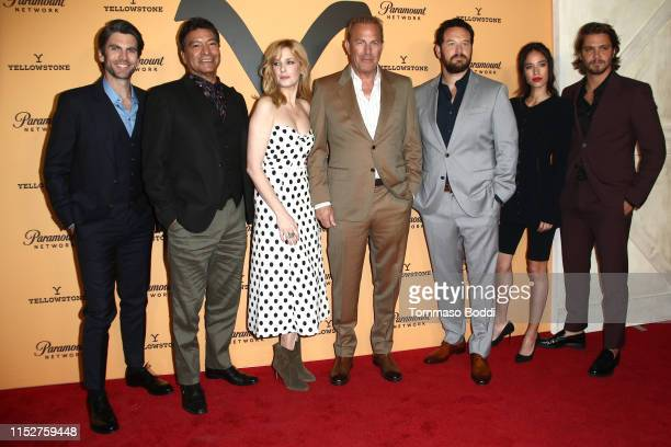 Wes Bentley Gil Birmingham Kelly Reilly Kevin Costner Cole Hauser Kelsey Asbille and Luke Grimes attends the Premiere Party For Paramount Network's...