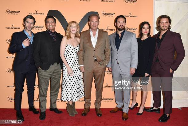 Wes Bentley Gil Birmingham Kelly Reilly Kevin Costner Cole Hauser Kelsey Asbille and Luke Grimes attend the premiere party for Paramount Network's...