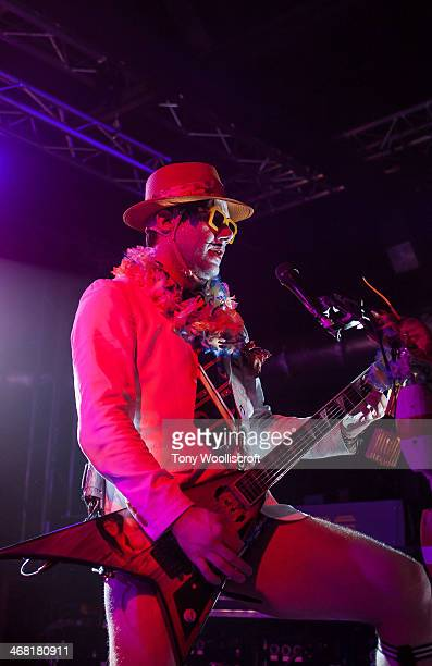Wes Borland of Limp Bizkit performs at 02 Academy Liverpool on February 9 2014 in Liverpool England