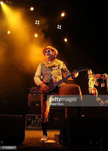 Wes Borland of Limp Bizkit performs at Brixton Academy on February 21 2014 in London England