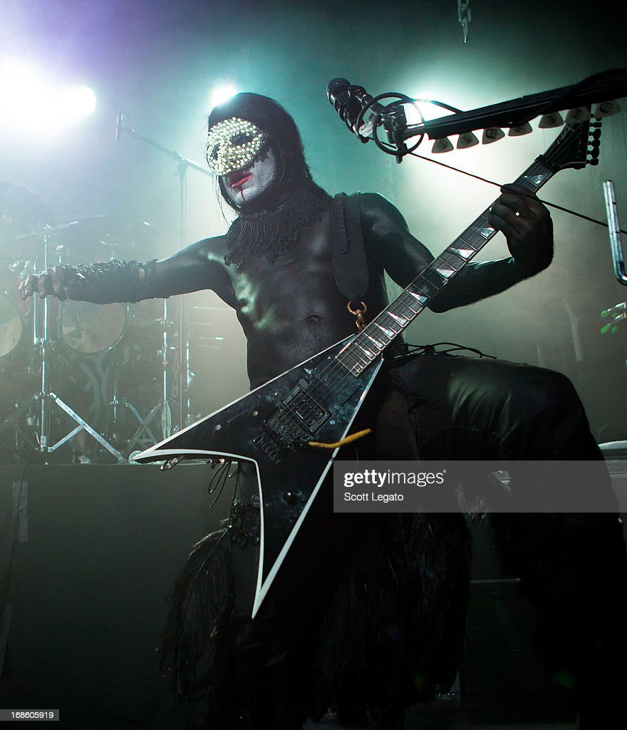 Wes Borland of Limp Bizkit performs at Saint Andrews Hall on May 11, 2013 in Detroit, Michigan.