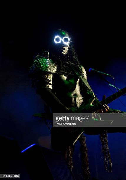 Wes Borland of Limp Bizkit performs live at EPICENTER Southern California's Rock Festival at Verizon Wireless Amphitheater on September 24 2011 in...