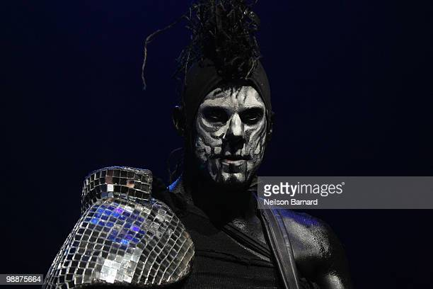 Wes Borland of Limp Bizkit performs on stage at Gramercy Theatre on May 5 2010 in New York City