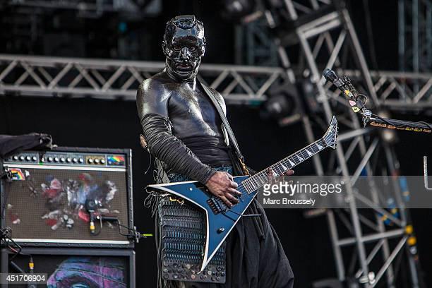Wes Borland of Limp Bizkit performs on stage at Sonisphere at Knebworth Park on July 4 2014 in Knebworth United Kingdom