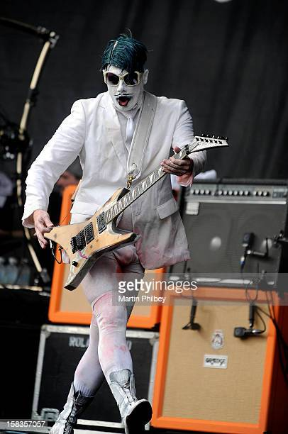 Wes Borland of Limp Bizkit performs on stage at the Soundwave Music Festival at Sydney Olympic Park on 26th February 2012 in Sydney Australia