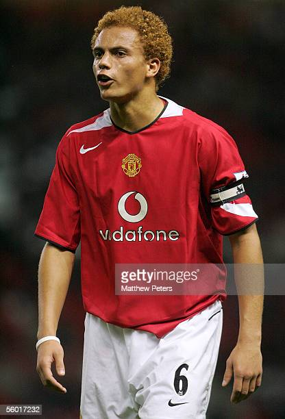 Wes Brown of Manchester United in action during the Carling Cup third round match between Manchester United and Barnet at Old Trafford on October 26...