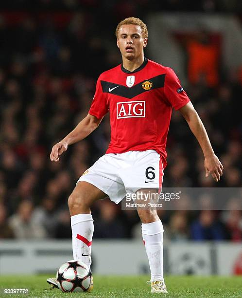 Wes Brown of Manchester United in action during the UEFA Champions League group B match between Manchester United and Besiktas at Old Trafford on...