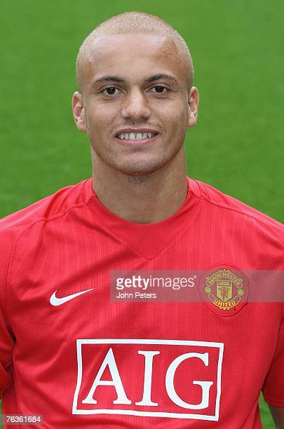 Wes Brown of Manchester United poses during the club's official annual photocall at Old Trafford on August 28 2007 in Manchester England