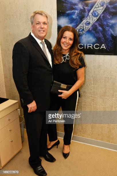 Wes Carroll and Stylist Deborah Waknin attend CIRCA Beverly Hills Grand Opening on May 21 2013 in Beverly Hills California