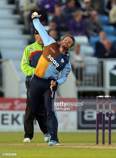 Wes Durston of Derbyshire Falcons in action during the Natwest T20 Blast match between Derbyshire Falcons and Leicestershire Foxes at the 3aaa County...