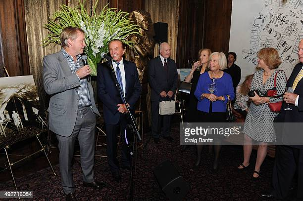 Wes Edens and Geoffrey Kent attend Geoffrey Kent's book launch celebrating 'Safari A Memoir Of A Worldwide Travel Pioneer' on October 14 2015 in New...