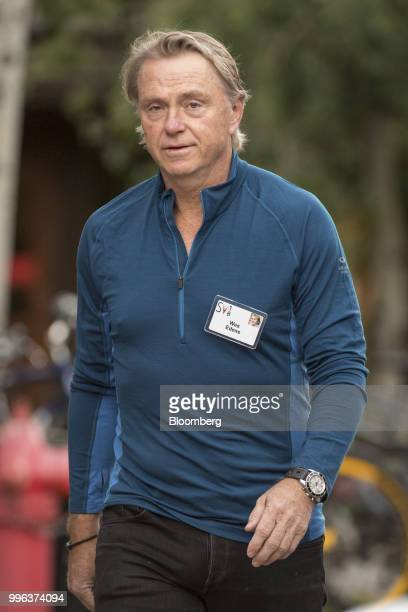 Wes Edens cochairman and cofounder of Fortress Investment Group LLC arrives for a morning session of the Allen Co Media and Technology Conference in...