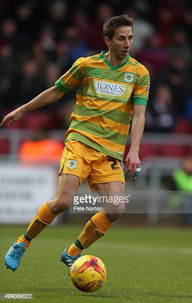Wes Fogden of Yeovil Town in action during the Sky Bet League Two match between Northampton Town and Yeovil Town at Sixfields Stadium on November 28...