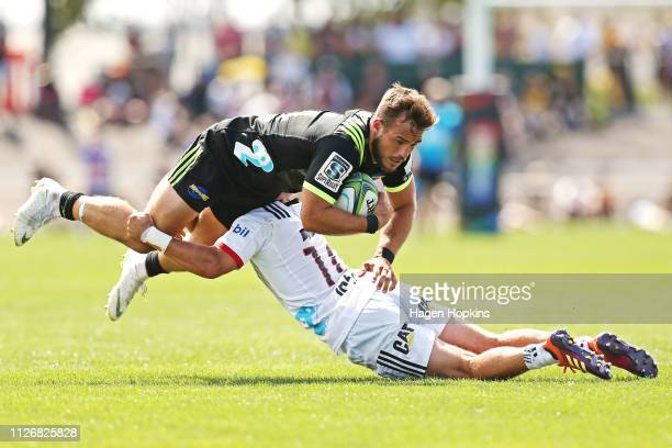 Wes Goosen of the Hurricanes during the pre-season Super Rugby match between the Hurricanes and the Crusaders on February 02, 2019 in Levin, New...